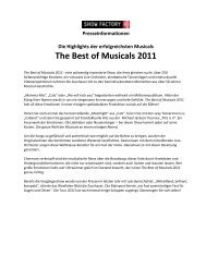 The Best of Musicals 2011
