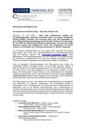 PRESSE-INFORMATION - Aigner Immobilien GmbH