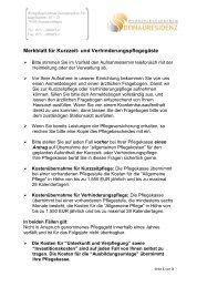 Merkblatt für Kurzzeit- und ... - Donauresidenz