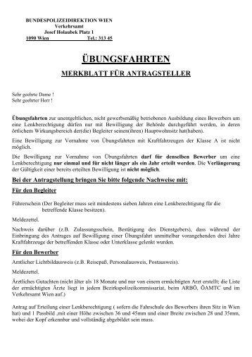 Merkblatt für §122-Ausbildung - Fahrschule U3ver