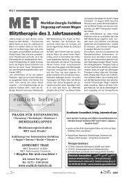 Blitztherapie des 3. Jahrtausends - MET nach Franke