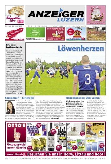Anzeiger Luzern, Ausgabe 21, 29. Mai 2013