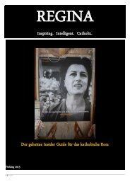 Inspiring. Intelligent. Catholic. Der geheime ... - Regina Magazine