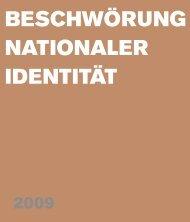 beschwörung nationaler identität (2009) - Da Ponte Institut