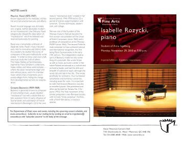 Rozycki magazines for Piano diviso