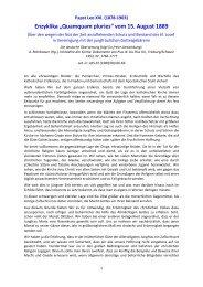 """Enzyklika """"Quamquam pluries"""" vom 15. August 1889 - Gottes Warnung"""