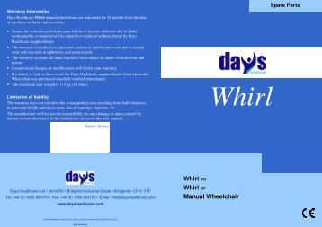 Instruction Manual - Days Healthcare