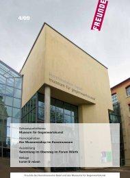 Mitgliedermagazin 4-09 - Freunde des Kunstmuseums Basel und ...