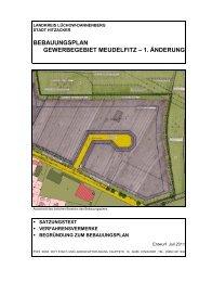 bebauungsplan gewerbegebiet meudelfitz – 1. änderung