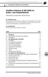 Strafbare Untreue (§ 266 StGB) im Kultur- und ... - Ufer | Knauer
