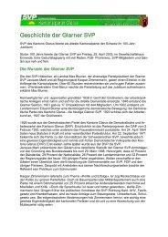 Geschichte der Glarner SVP - SVP Glarus
