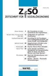 ZEITSCHRIFT FÜR SOZIALÖKONOMIE 164/165.
