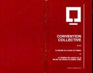 Convention collective des ouvriers SAQ 1972-1975 - SEMB SAQ