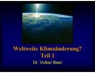 Weltweite Klimaänderungen, Teil 1 - Leipzig