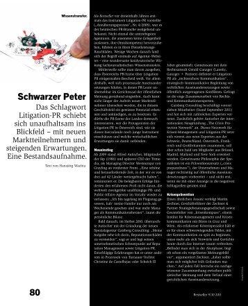 Schwarzer Peter - Horizont