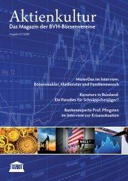 Aktienkultur – Das Magazin der BVH-Börsenvereine