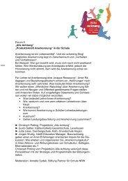 Workshop Anerkennung - Stiftung Partner für Schule NRW
