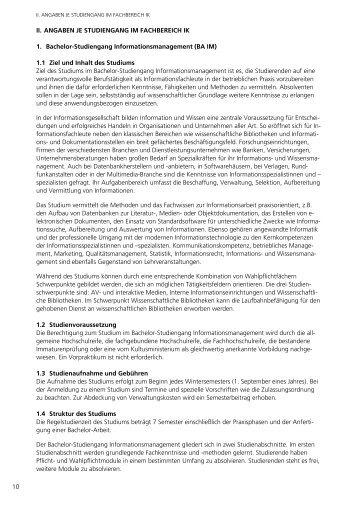 Studienhandbuch BA IM bis Studienjahrgang WS 2009/2010