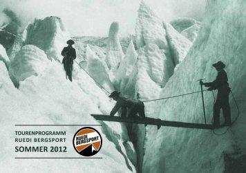 Tourenprogramm als PDF - Ruedi Bergsport