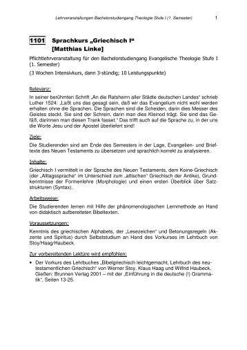 Kommentiertes Vorlesungsverzeichnis Wintersemester 2008/2009
