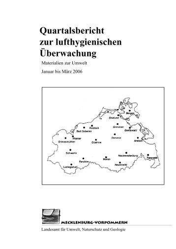 1. Quartal 2006 - Landesamt für Umwelt, Naturschutz und Geologie ...