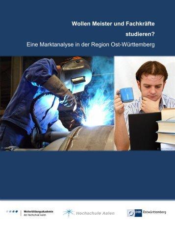 Wollen Meister und Fachkräfte studieren? Eine Marktanalyse in der ...