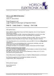 Info an alle SMC42 Betreiber 2003_1.pdf - Horsch Elektronik AG