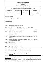 Protokoll zur 10. Deputationssitzung am 10.05.2012
