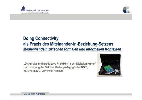 Doing Connectivity als Praxis des Miteinander-in-Beziehung-Setzens