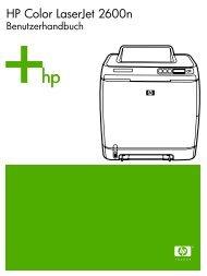 HP Color LaserJet 2600n - Business Support Center - Hewlett Packard