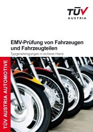 Emv-Prüfung von Fahrzeugen und Fahrzeugteilen