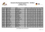 Deutsche Meisterschaft 120 Wurf am 25. und 26. Juni 2013 in ...