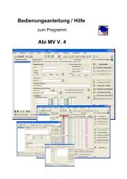 Bedienungsanleitung / Hilfe Abi MV V. 4 - lern-soft-projekt