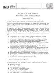 Informationen zu Master-Arbeiten - Lehrstuhl Braun - Ludwig ...