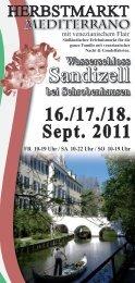 Flyer 2011 - Mediterrano-sandizell.de