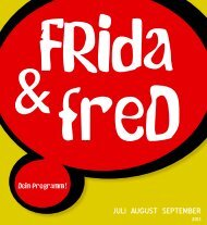 FRida & freD Programmfolder Juli bis September 2013