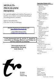 MONATS- PROGRAMM 09/10/2012 - Theaterring-erlangen.de