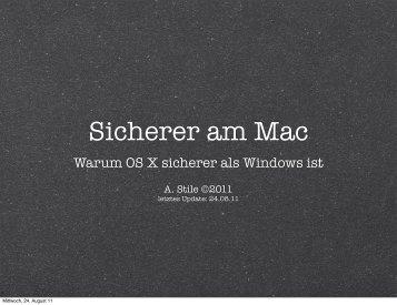 Sicherer am Mac