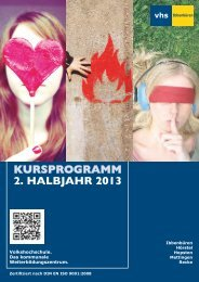 Programmheft - Volkshochschule Ibbenbüren
