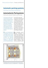 Automatic parking systems Automatische Parksysteme - EuroParking