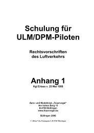Schulung für ULM/DPM-Piloten Anhang 1 - Feuervogel