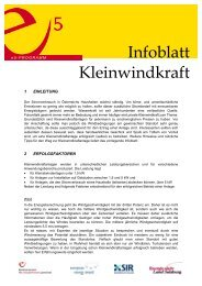 Infoblatt Kleinwindkraft - e5-Salzburg