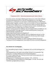 7.September 2012 - Fahrsicherheitstraining mit freiem Fahren - Wir ...