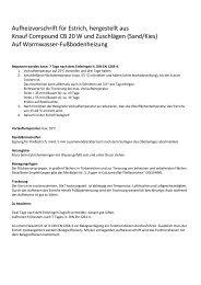 Aufheizprotokoll Bindemittel - estriche-hunglinger