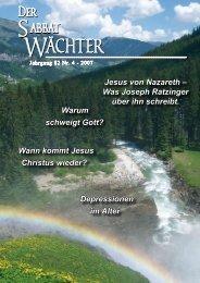 Jahrgang 82 Nr. 4 - Reformierte Siebenten-Tags-Adventisten in ...