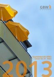 Quartalsbericht - GBW Gruppe