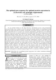 The optimal gene sequence for optimal protein expression ... - acgssr