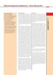 hämotherapie 09/2007 - Hämorrhagische Diathesen - Eine Übersicht