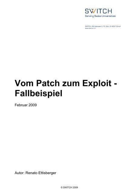 Vom Patch zum Exploit - Fallbeispiel - Switch