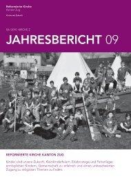 Jahresbericht 2009 - Reformierte Kirche Zug
